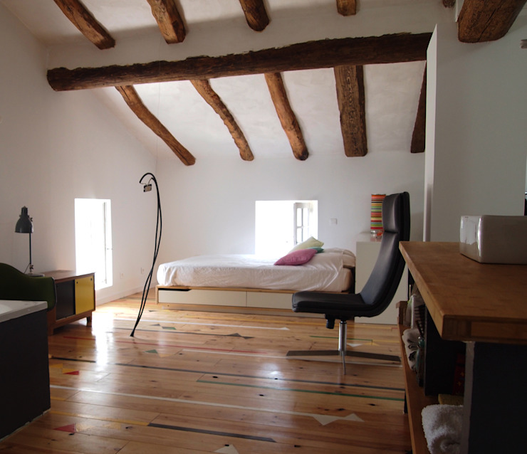 CREATION D'UN LOFT Chambre moderne par Emilie POTIER Moderne