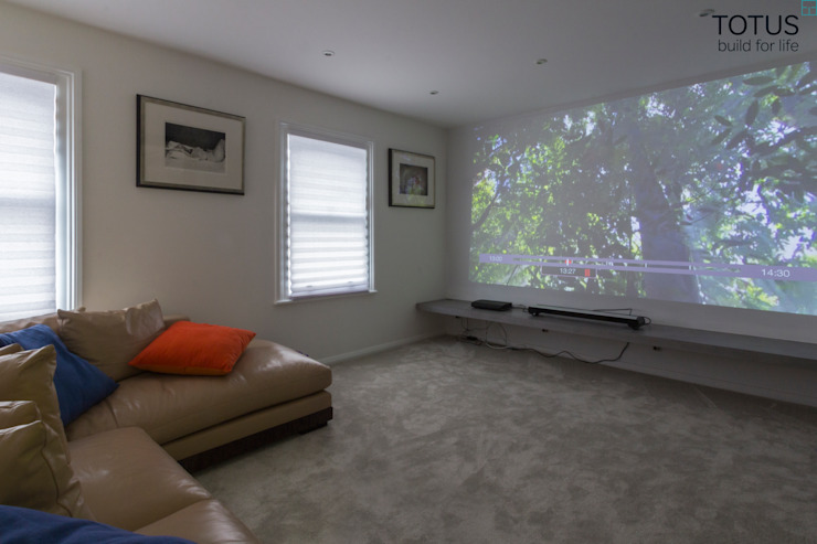 Property Renovation and Extension, Clapham SW11 Modern media room by TOTUS Modern