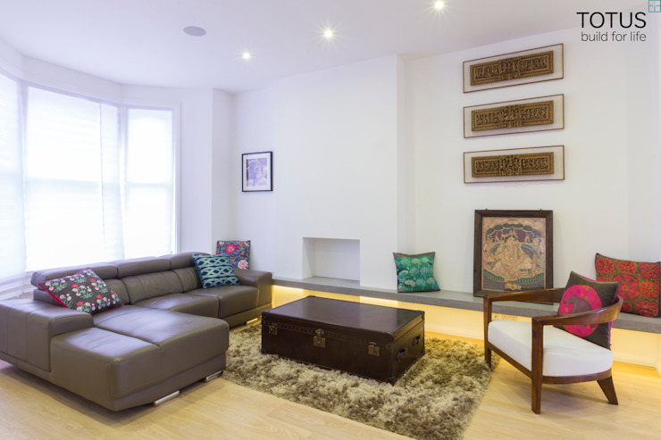 Property Renovation and Extension, Clapham SW11 Modern living room by TOTUS Modern