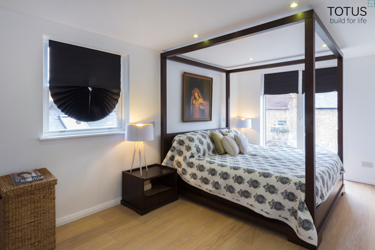 Property Renovation and Extension, Clapham SW11 Modern style bedroom by TOTUS Modern