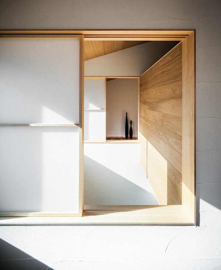 Sa HAUS 吹抜けとつながるウチマド モダンな 窓&ドア の 青木伸江建築研究所 モダン