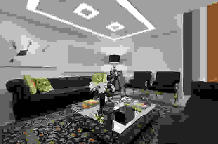 Casa Contemporânea Salas de estar modernas por Johnny Thomsen Arquitetura e Design Moderno