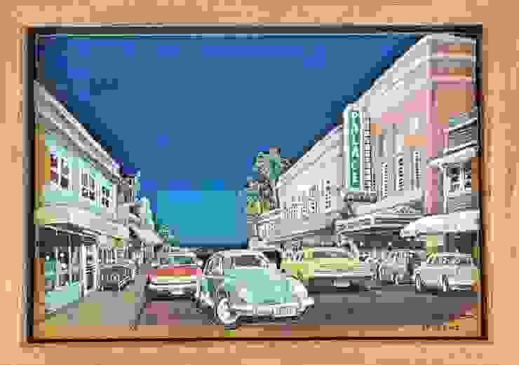 ハワイ島(ビッグアイランド)ヒロの街を描いた作品: ヒロ・デザイン・ラボが手掛けたトロピカルです。,トロピカル