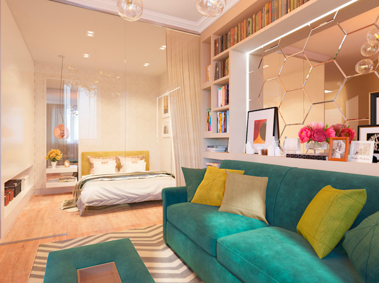 Eclectic style living room by Bronx Eclectic