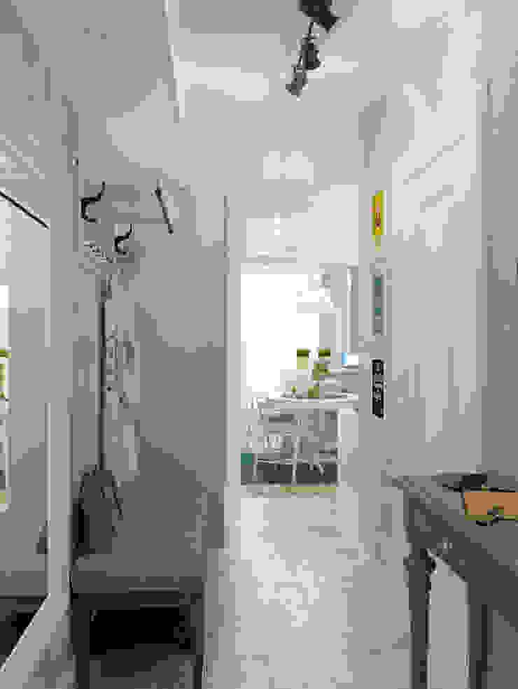 студия 25 м. дизайнер: Никита ЗУБ Коридор, прихожая и лестница в скандинавском стиле от цуккини Скандинавский