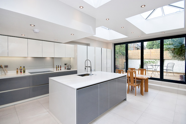 Putney, Wandsworth SW6 London | Kitchen house extension Cocinas de estilo moderno de GOAStudio | London residential architecture Moderno