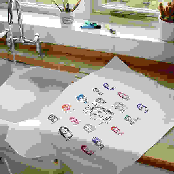 Personalised Handwritten Tea Towel Jonny's Sister KitchenAccessories & textiles