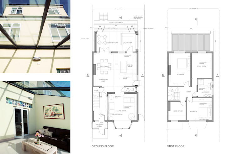 Golders Green, Barnet NW11, London | House extension de GOAStudio | London residential architecture Moderno