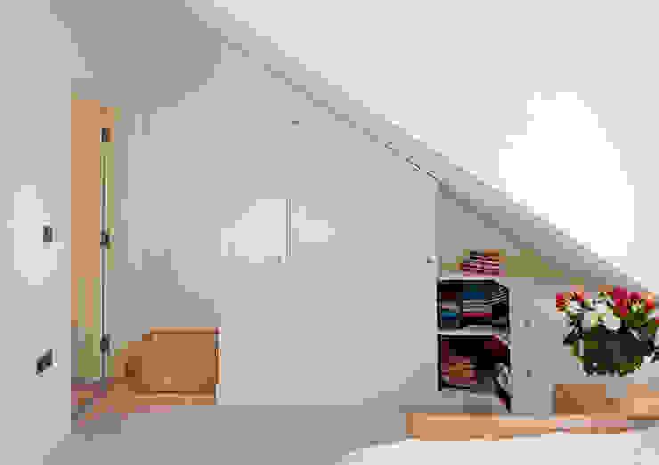 Bedroom under Eaves Modern Bedroom by Collective Works Modern