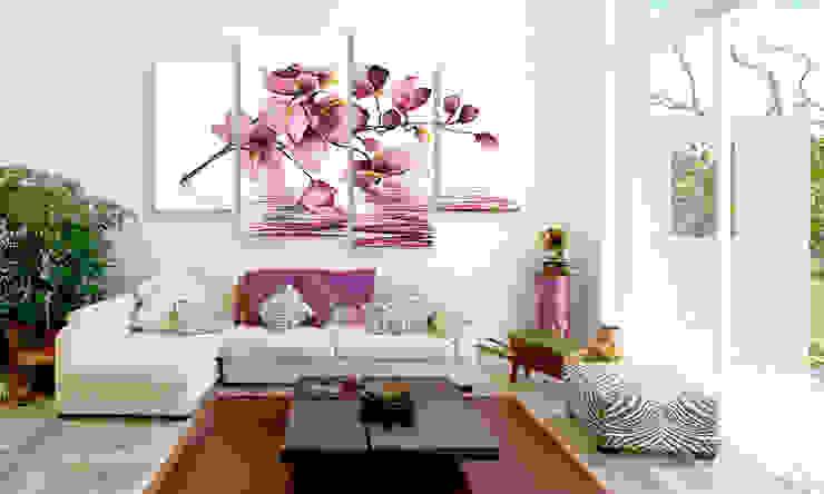 Orquídeas en el espejo de agua:  de estilo tropical de BIMAGO, Tropical