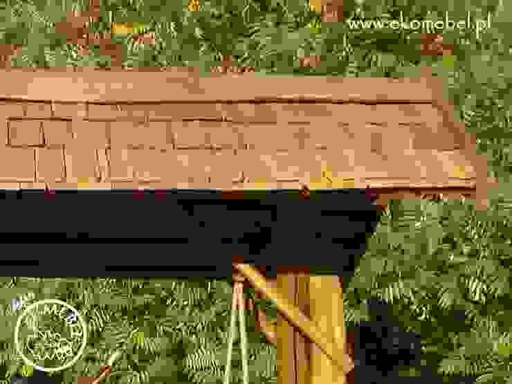 EKOMEBEL daszek huśtawki od Ekomebel - dębowe meble ogrodowe Rustykalny