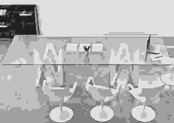 Lambda Glass Dining Table: modern  by Glassdomain, Modern