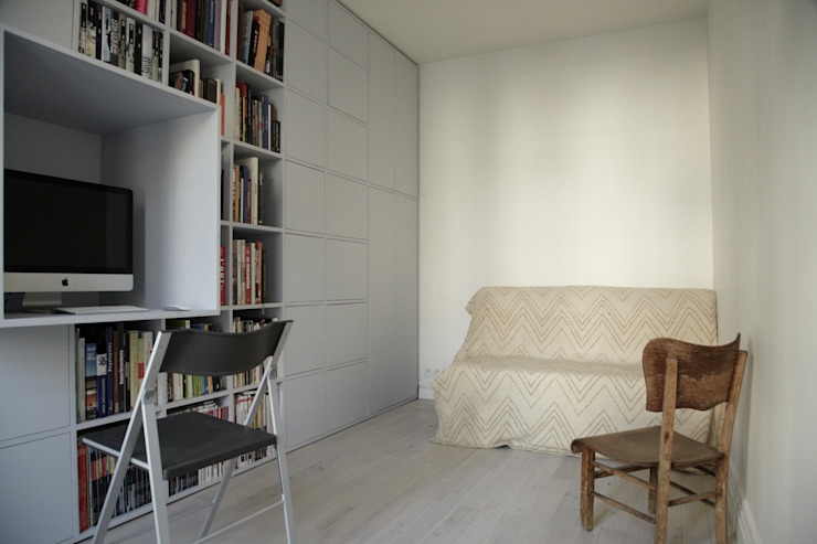Meuble penderie/bibliothèque/bureau L'Atelier de la Menuisière Chambre moderne