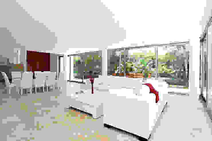Casa T: Salas de estilo  por Enrique Cabrera Arquitecto, Moderno