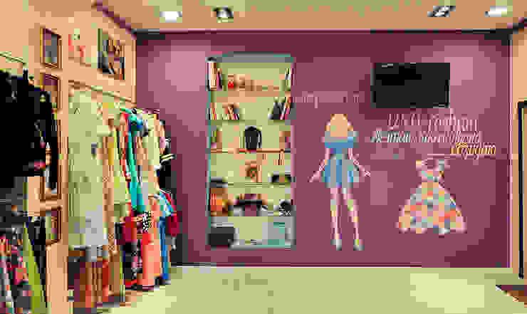 Цветная грифельная стена в шоу-руме UNO-fashion от IdeasMarket Эклектичный