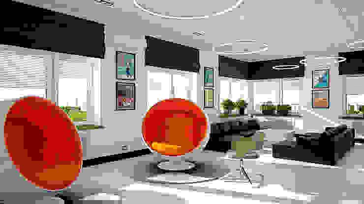 Минималистичный функциональный интерьер для компании iFunny Офисные помещения в стиле лофт от IdeasMarket Лофт