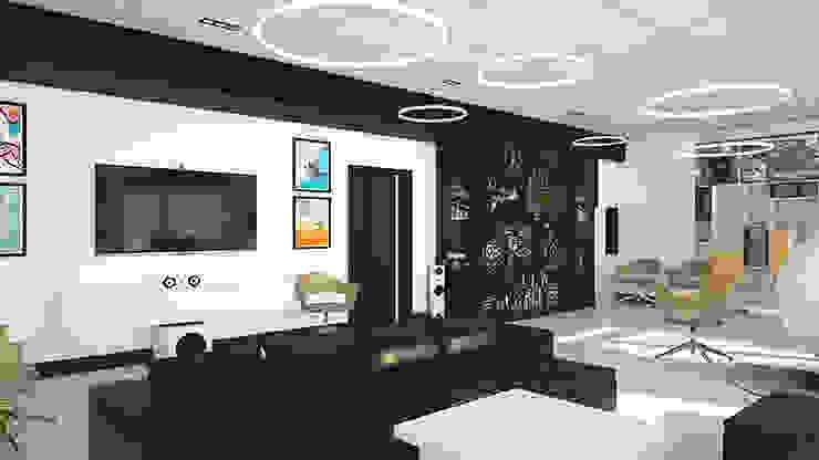Черная маркерная стена в холле от IdeasMarket Классический