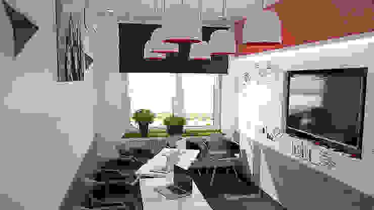 Магнитно-маркерные покрытия в офисе iFunny Офисные помещения в стиле минимализм от IdeasMarket Минимализм