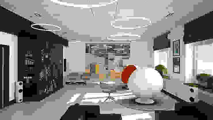 Минималистичный функциональный интерьер для компании iFunny Офисы и магазины в стиле лофт от IdeasMarket Лофт