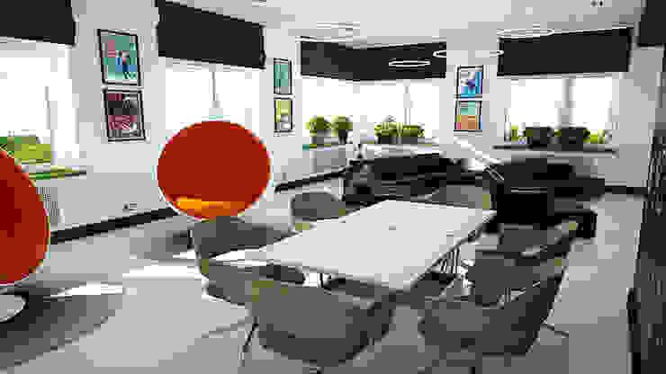 Минималистичный функциональный интерьер для компании iFunny Офисы и магазины в стиле минимализм от IdeasMarket Минимализм