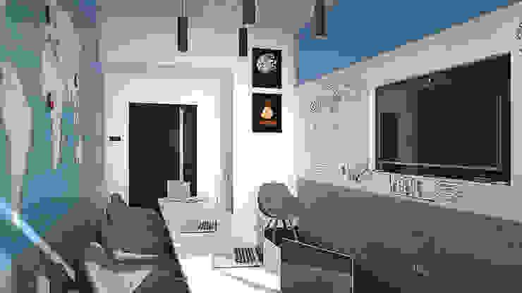 Магнитно-маркерные покрытия в переговорных компании iFunny Офисные помещения в стиле минимализм от IdeasMarket Минимализм