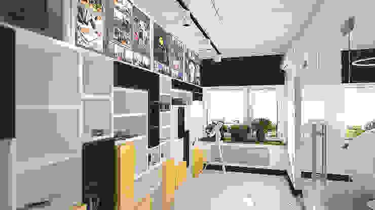 Минималистичный функциональный интерьер для компании iFunny Офисные помещения в эклектичном стиле от IdeasMarket Эклектичный