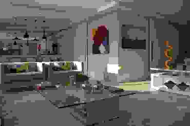 Salones de estilo minimalista de Helô Marques Associados Minimalista