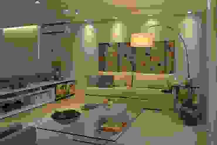 Living room by Helô Marques Associados, Minimalist