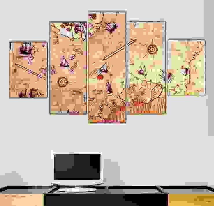 Ratolye Ahşap Tasarım Atölyesi – Parçalı Kanvas Tablolar:  tarz Duvar & Zemin