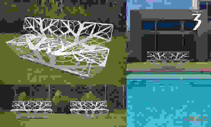 Banco 3 Postigo design JardinesMuebles