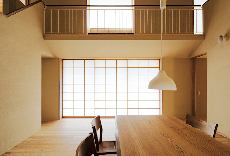 Bulatハウス オリジナルデザインの ダイニング の しまだ設計室 オリジナル