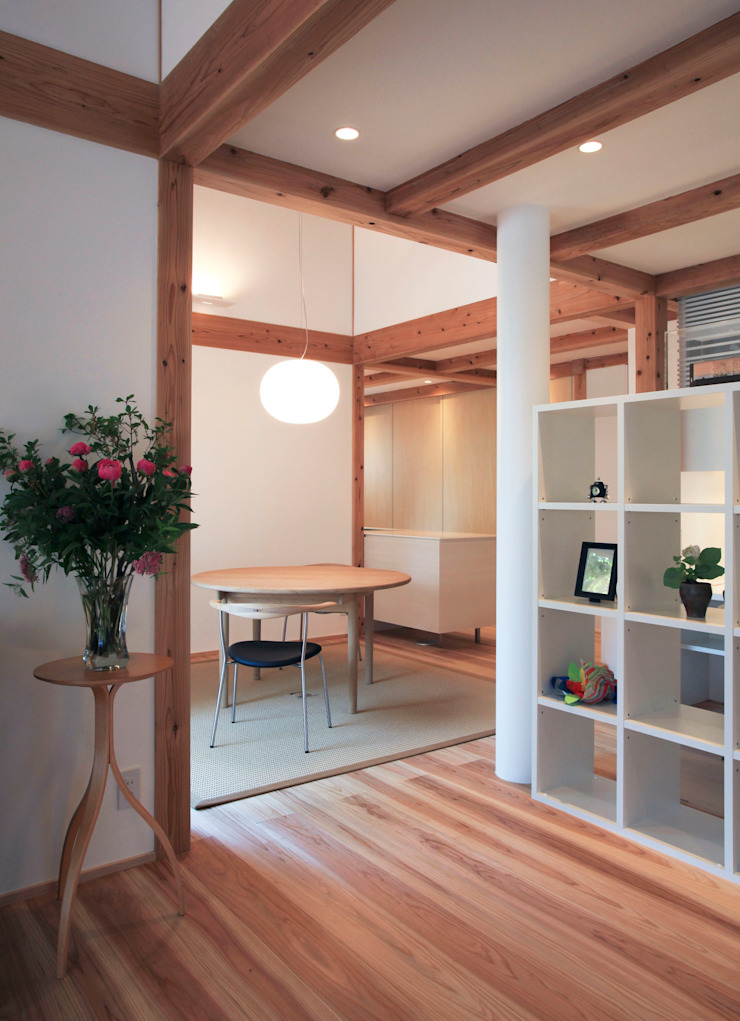 kitadoi house 和風デザインの ダイニング の 髙岡建築研究室 和風