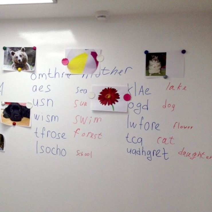 Магнитно-маркерное покрытие в детском клубе Mamasdreamclub Школы в стиле лофт от IdeasMarket Лофт