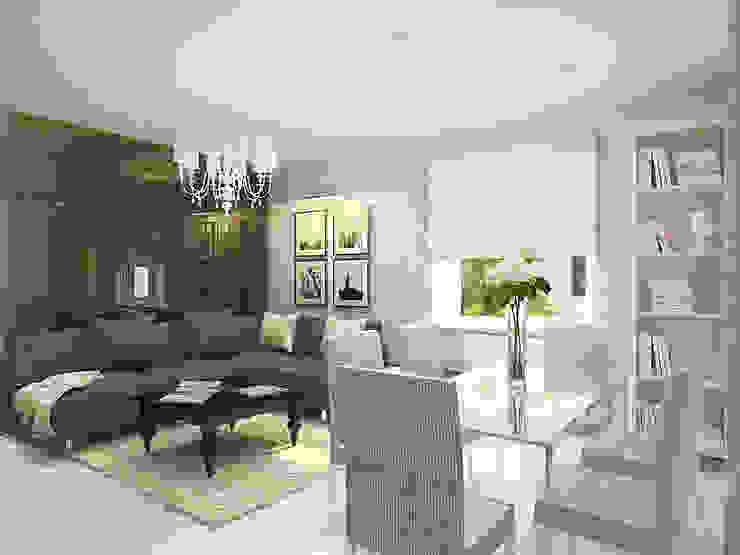 Кухня-гостиная Гостиная в стиле модерн от Олег Елфимычев Модерн