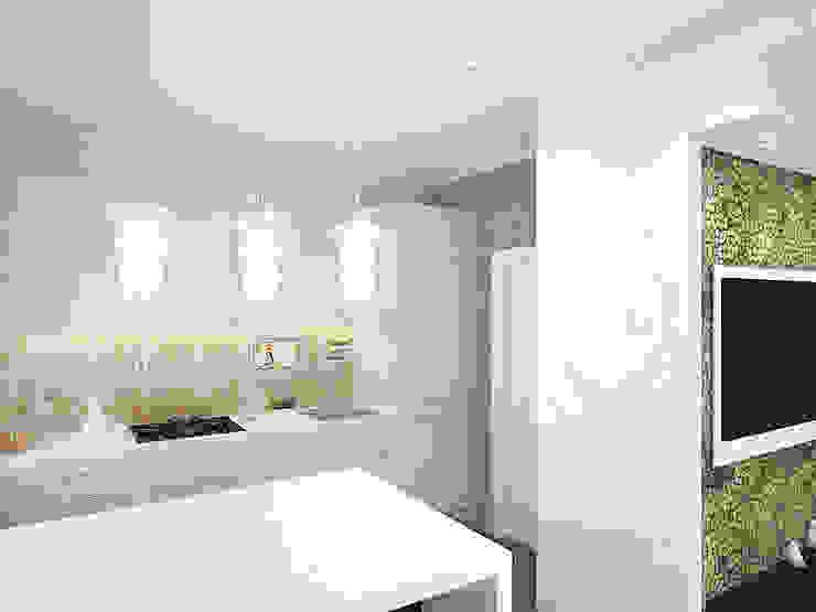 Кухня-гостиная Кухня в стиле модерн от Олег Елфимычев Модерн