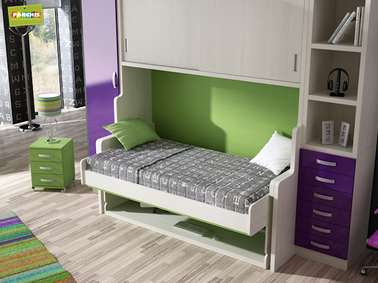 cama convertible en mesa, una cama mesa abatible de gran calidad de Muebles Parchis. Dormitorios Juveniles. Moderno