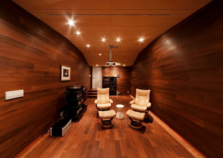 オーディオルーム モダンデザインの 多目的室 の 有限会社笹野空間設計 モダン