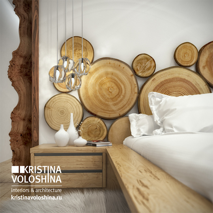 экостиль Спальня в стиле модерн от kristinavoloshina Модерн