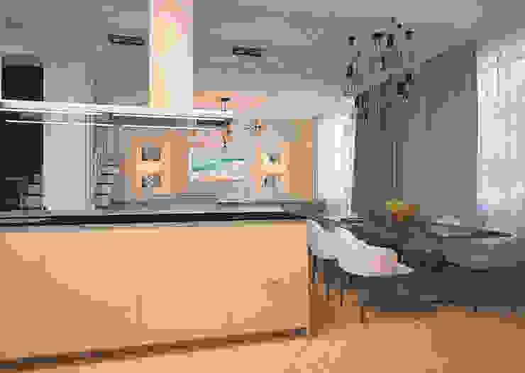 Изящный, спокойный, упорядоченный… Гостиные в эклектичном стиле от DARIA_MEZENTSEVA Эклектичный
