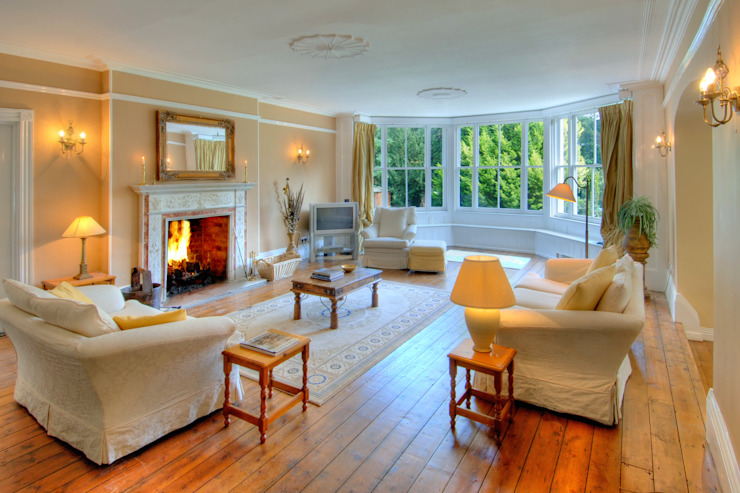 Bossington House, Adisham Kent Country style living room by Lee Evans Partnership Country