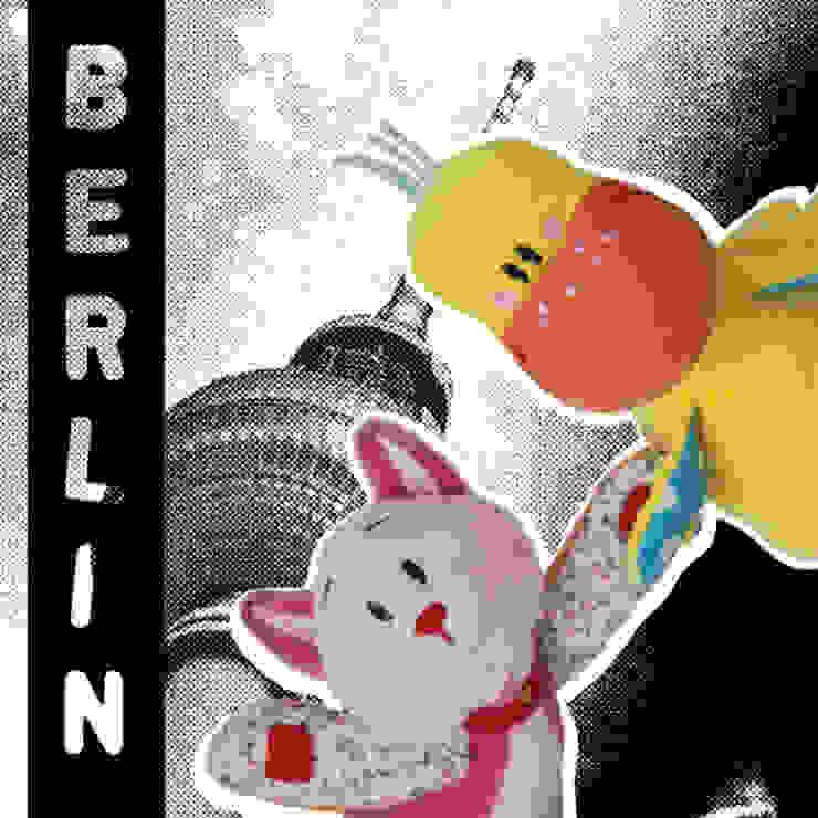 Lizzy & Hoppe like cityhopping in Berlin! por allesPiek Moderno Têxtil Ambar/dourado