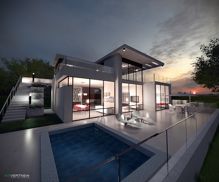 Modern Houses by ADVERTNEW Modern