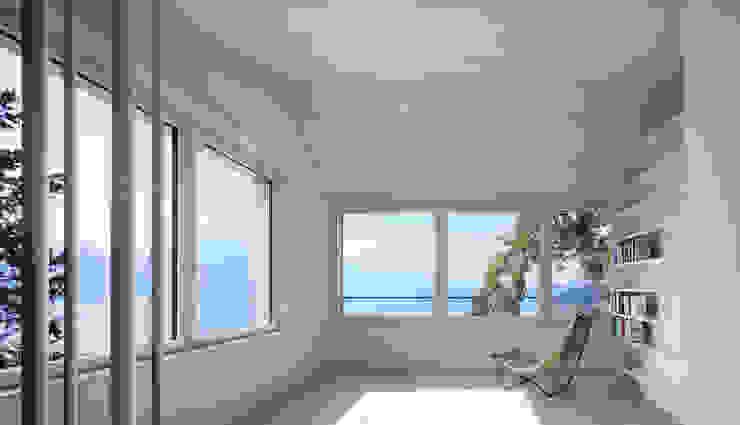 Skandynawski salon od Forsberg Architekten AG Skandynawski