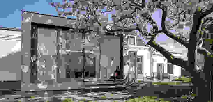 Aan de zuidzijde bevindt zich nu een grote serre Moderne serres van op ten noort blijdenstein architecten Modern