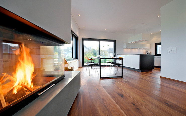Wohn-Essbereich Moderne Esszimmer von e s a Modern
