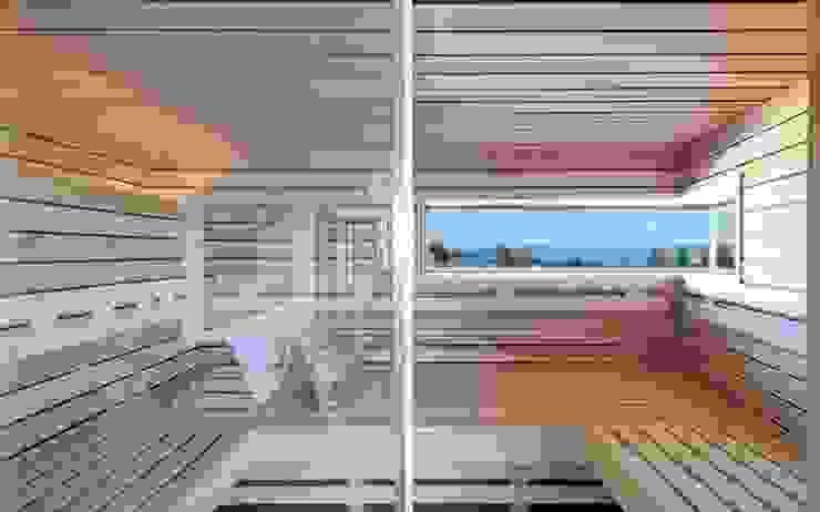 Sauna im Attikageschoss Moderner Spa von e s a Modern