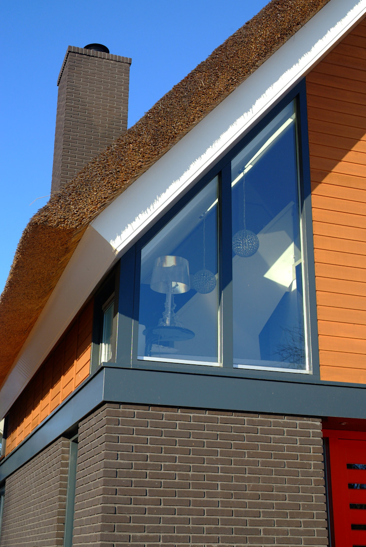 Voorgevel, Detail Moderne huizen van MEF Architect Modern