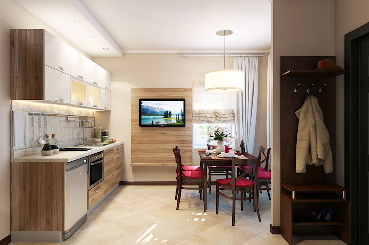 Только для своих Кухни в эклектичном стиле от Студия интерьера 'SENSE' Эклектичный