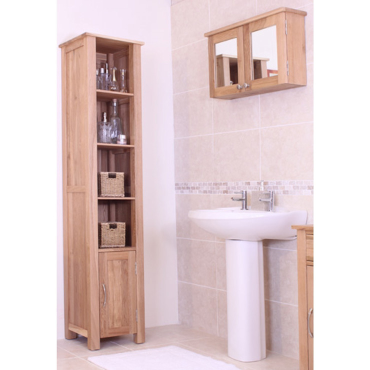 Bonsoni Mobel Oak Wall Mounted Bathroom Cabinet (Large) de homify Rústico