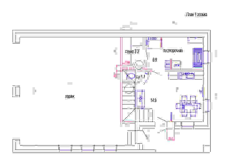 План первого этажа от Студия интерьера 'SENSE' Эклектичный